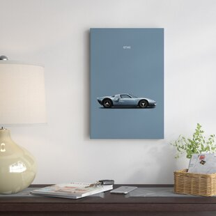 'Ford GT40' Graphic Art Print on Canvas ByEast Urban Home