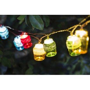 Bay Isle Home Karissa Mason Jars 7.5 ft. 10-Light Novelty String Light