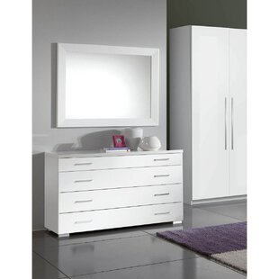 4 Drawer Dresser with Mirror by Noci Design