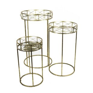 3 Piece Metal End Table Set