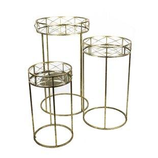 3 Piece Metal End Table Set