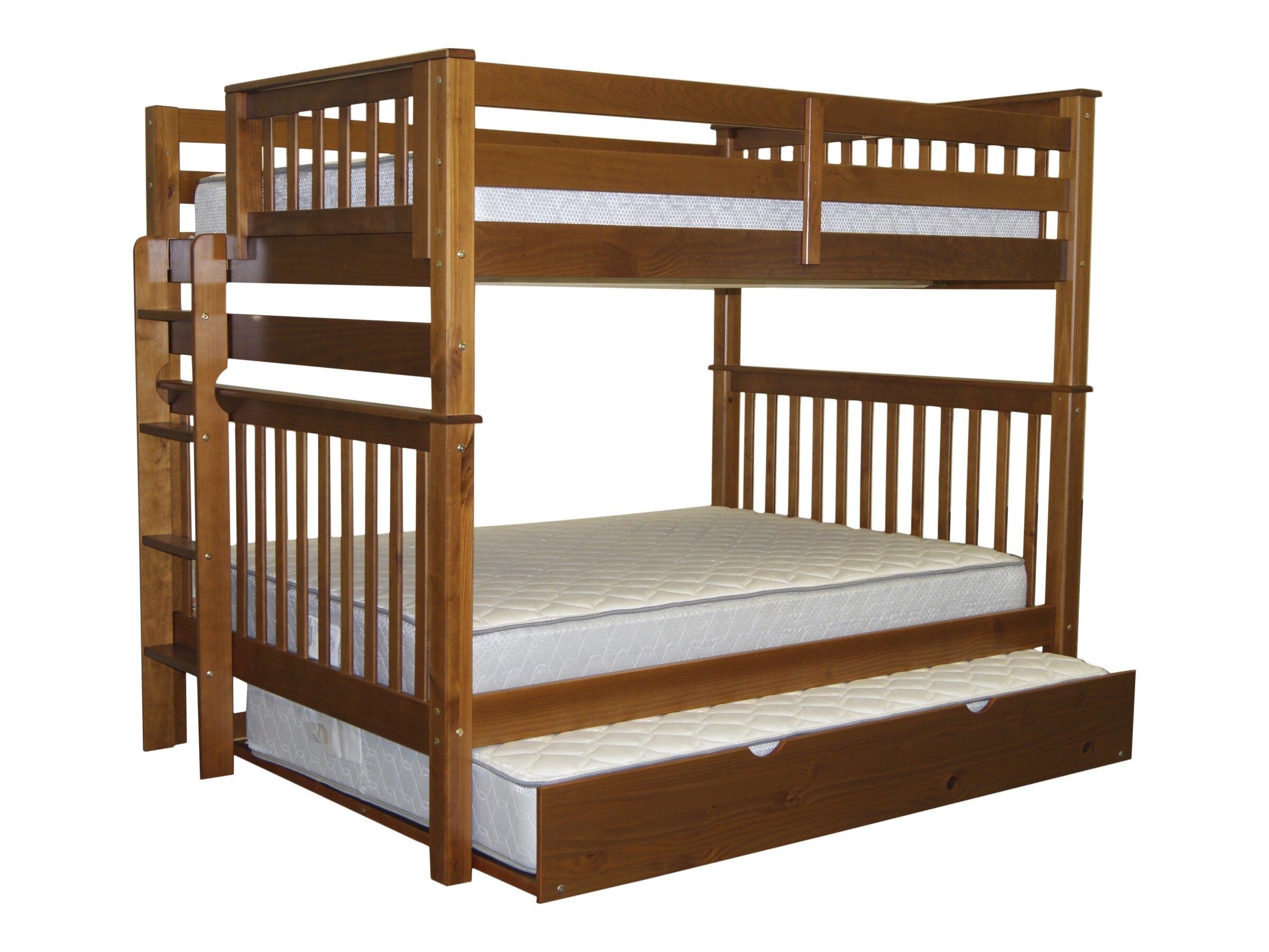 lig over wood ladder with p light full in finish htm bed bunk natural