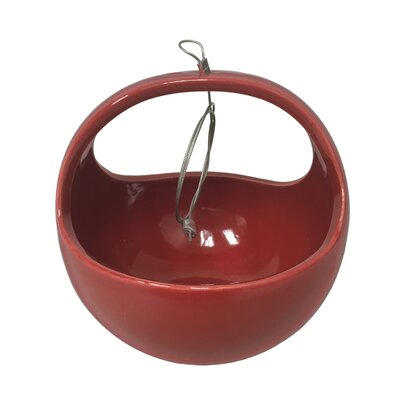 Urban Gardening Ceramic Hanging Planter Arcadia Garden Products Color: Red
