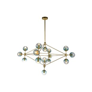 Brayden Studio Eckert 15-Light Geometric Chandelier