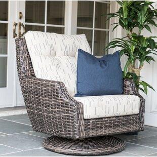 Lloyd Flanders Largo High Back Swivel Rocking Chair with Cushion