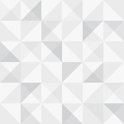Brewster Home Fashions Wall Vision 33 x 20.9 Dabria Geometric Wallpaper Color: White
