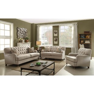 Darby Home Co Diep 3 Piece Living Room Set