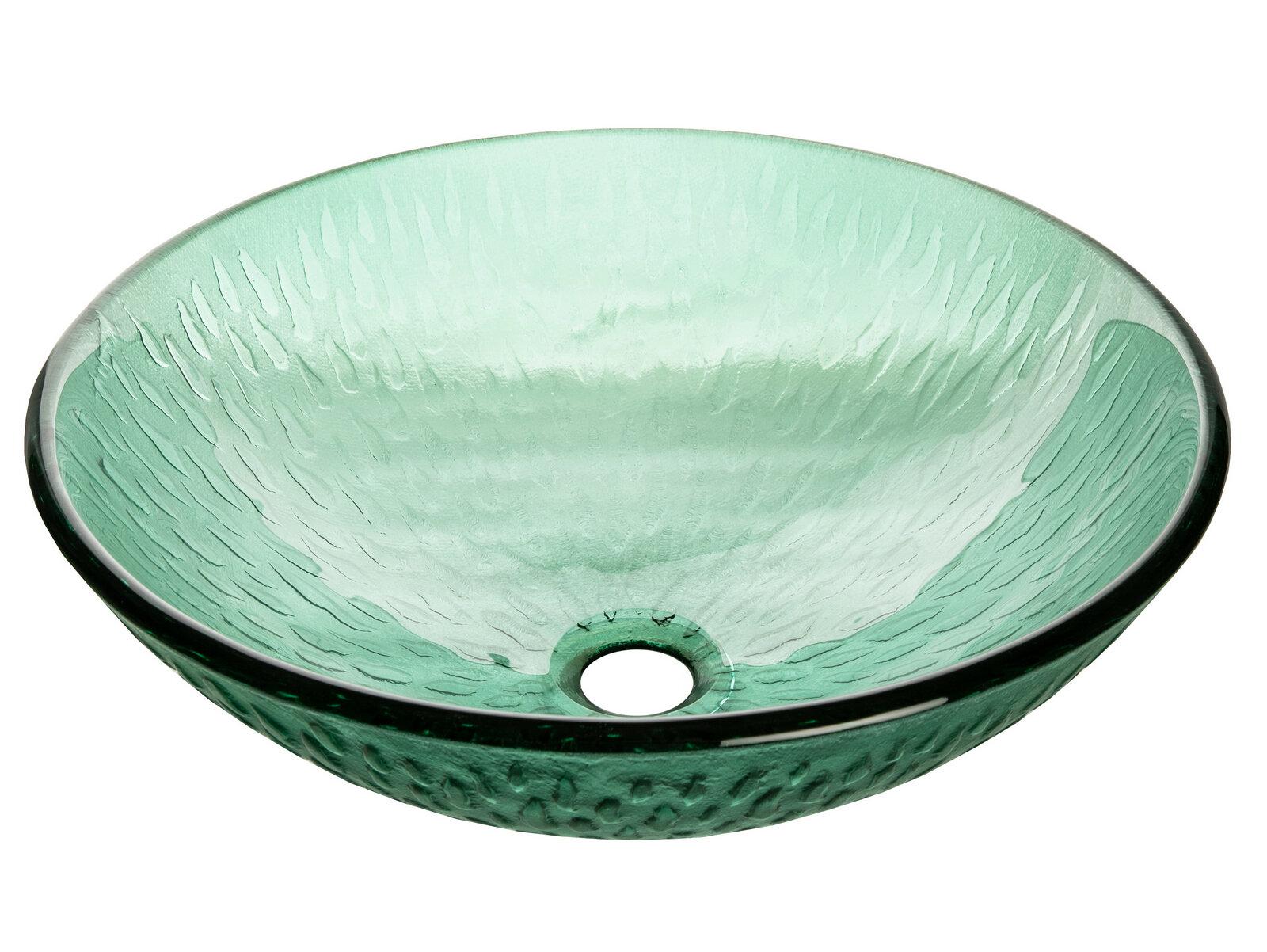 Edenbath Green Tempered Glass Circular Vessel Bathroom Sink Wayfair
