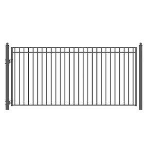 6 Ft. H Madrid Steel Single Swing Driveway Gate By ALEKO