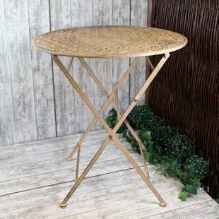 Wadsworth Folding Metal Bistro Table By Bloomsbury Market