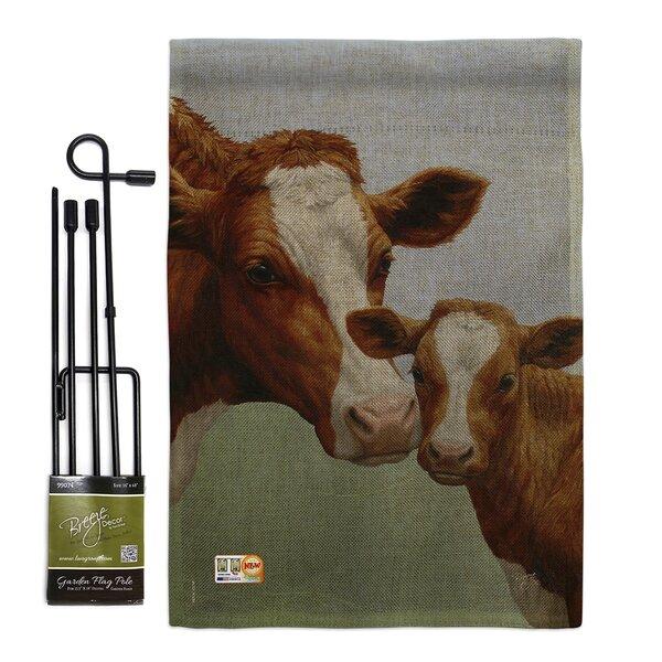 Breeze Decor Cow And Calf 2 Sided Burlap 19 X 13 In Garden Flag Wayfair