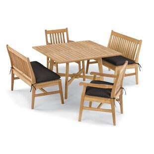 Breakwater Bay Laney 5 Piece Dining Set with Cushions