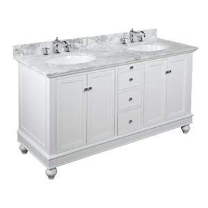Extra Large Double Bathroom Vanities double vanities you'll love | wayfair