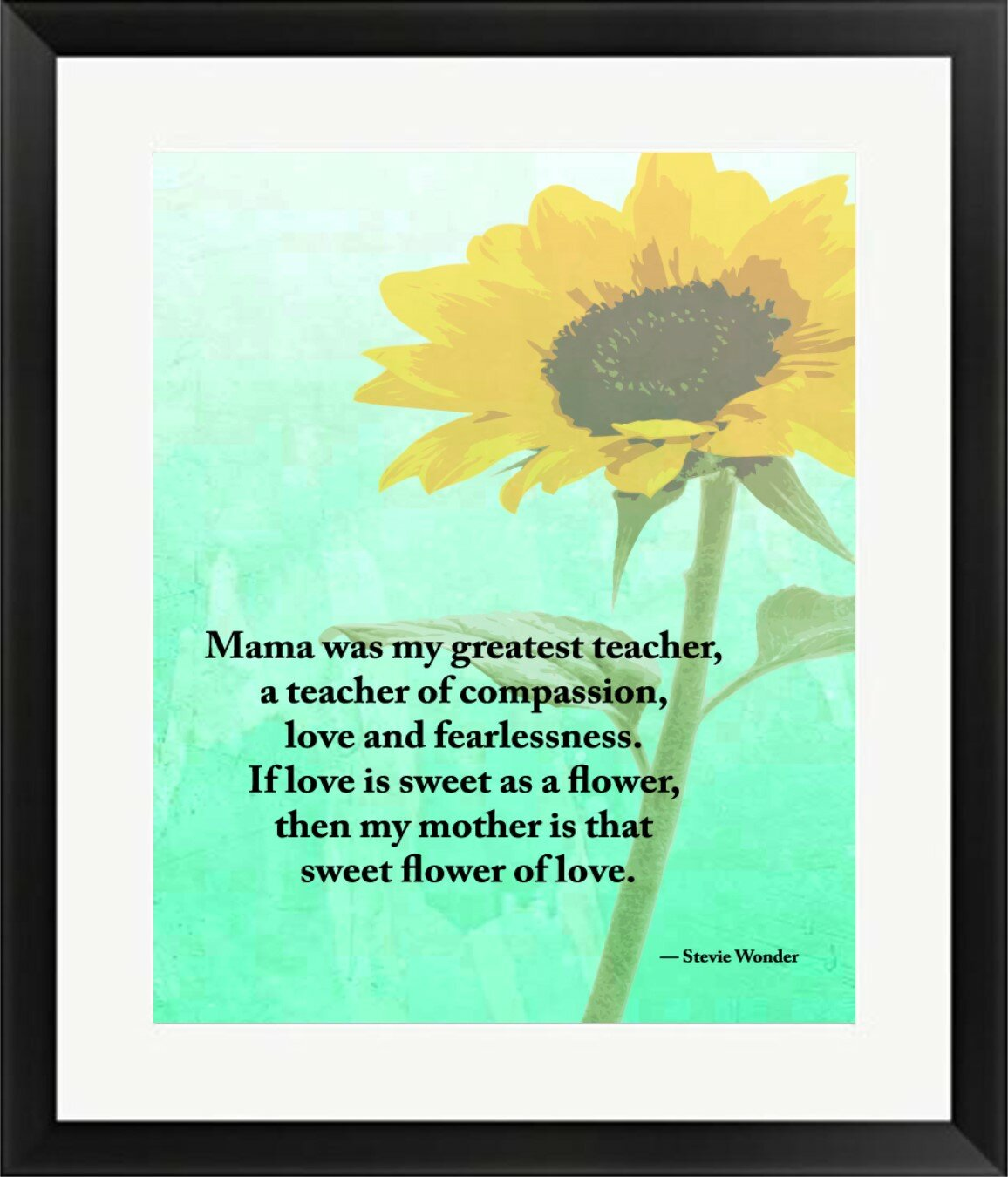 Buy Art For Less Typography Sunflower And Quote Sunflower Mothers