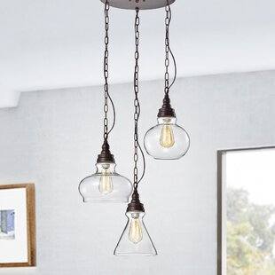 Campa 3-Light Cluster Pendant by Gracie Oaks