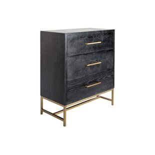 Bebb Wood 3 Drawer Accent Chest by Ivy Bronx
