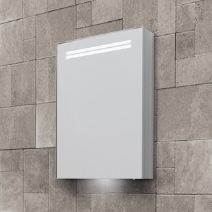Sharleen 50cm X 70cm Surface Mount Mirror Cabinet With LED Lighting By Belfry Bathroom