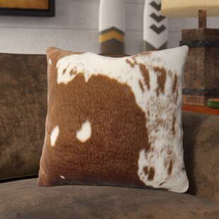 Bonneval Faux Cowhide Throw Pillow