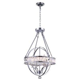 CWI Lighting Arkansas 4-Light Globe Chandelier