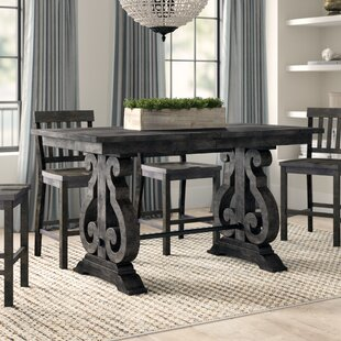 Ellenton Counter Height Extendable Solid Wood Dining Table Greyleigh