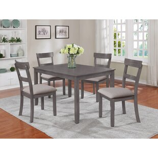 Henderson 5 Piece Solid Wood Dining Set Crown Mark