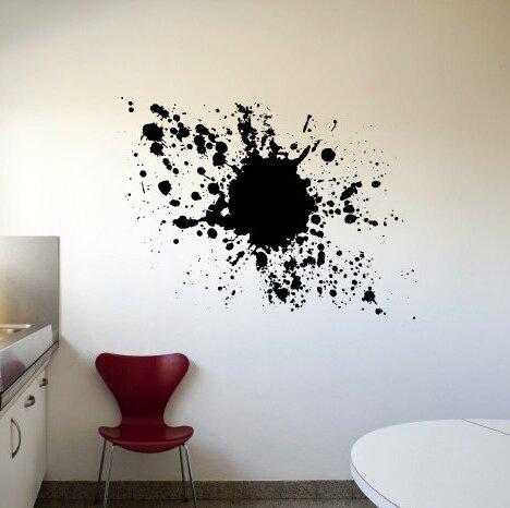 brayden studio kelston mills paint splatter wall decal   wayfair.ca