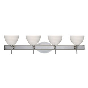 Great choice Brella 4-Light Vanity Light By Besa Lighting