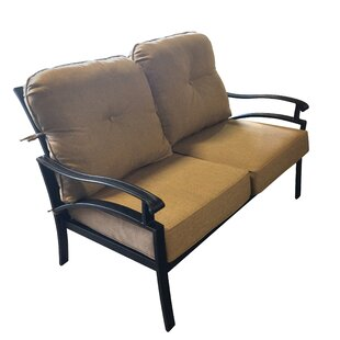 Aube Outdoor Aluminum Loveseat with Cushions by Canora Grey