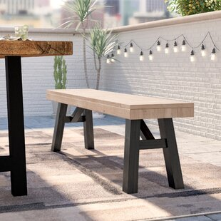 Poirier Outdoor Wooden Picnic Bench