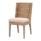 Cuyler Upholstered Side Chair in Stone Wash (Set of 2) by Rosecliff Heights