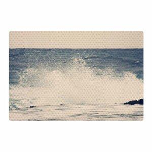Sylvia Coomes Crashing Waves 2 Coastal Blue Area Rug