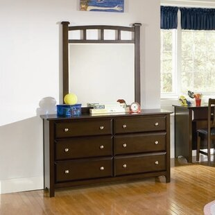 Affordable Price Harrington 6 Drawer Dresser with Mirror by Wildon Home®