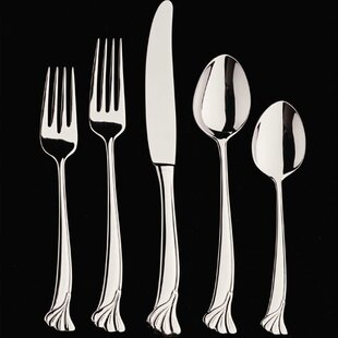 Ginkgo Leaf 20 Piece Flatware Set, Service for 4