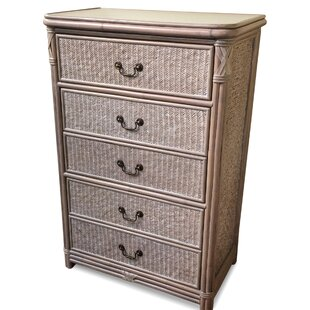 Bedelia Rattan 5 Drawer Chest