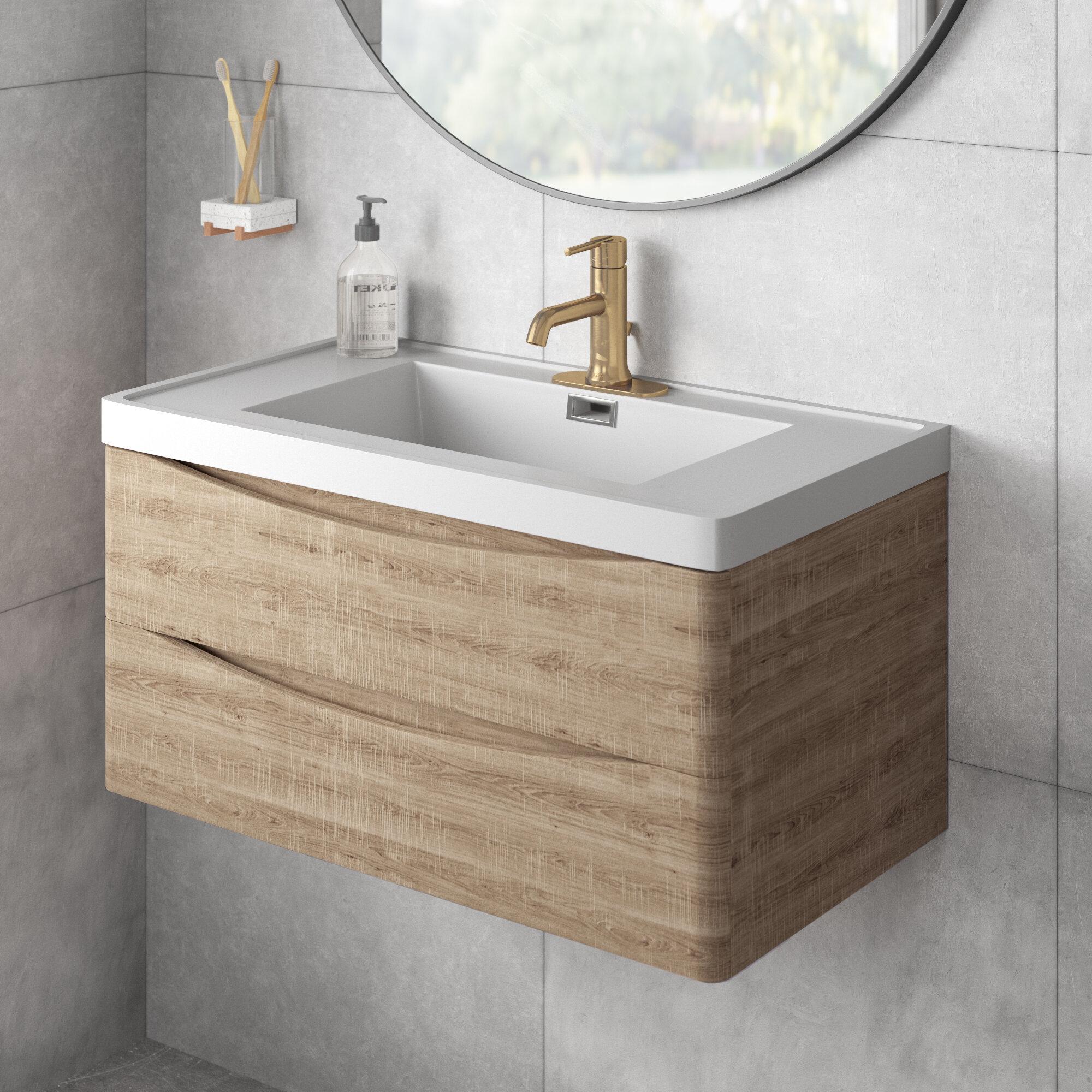 Trent Austin Design Blondene Modern 30 Single Bathroom Vanity Set Reviews Wayfair