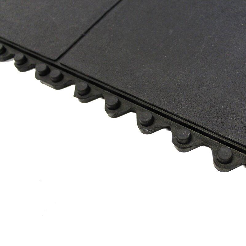 Envelor Home Anti Fatigue Heavy Duty Solid Rubber Floor Tiles