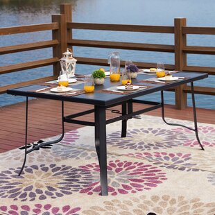 Rozar Metal Dining Table by Red Barrel St..