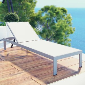Coline Contemporary Outdoor Patio Chaise Lounge
