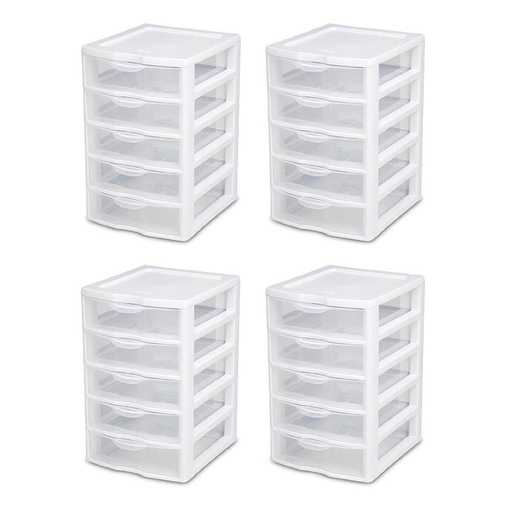 Sterilite Clearview 5 Drawer Storage Chest Reviews Wayfair Ca