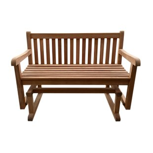 Claycomb Teak Glider Bench by August Grove