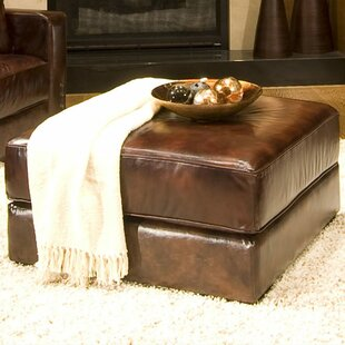 Laguna Leather Cocktail Ottoman by Elements Fine Home Furnishings