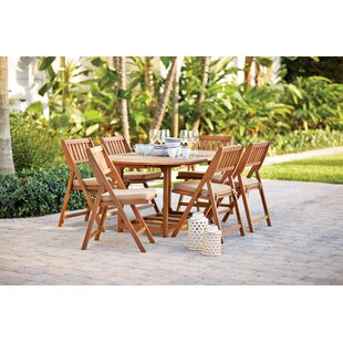 August Grove Shanklin 7 Piece Dining Set with Cushion