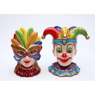 Clowns 2-Piece Salt and Pepper Set