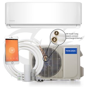 DIY 18,000 BTU Energy Star Through the Wall Air Conditioner with Remote and WiFi Control