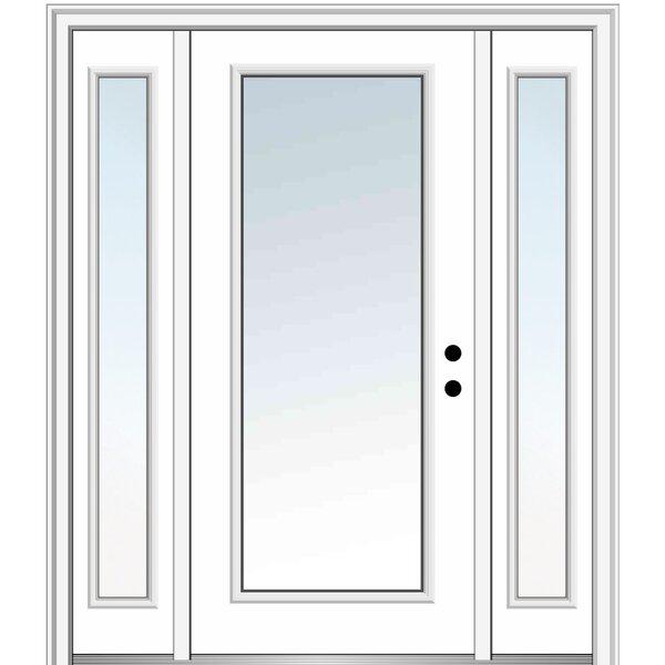 Verona Home Design Smooth Primed Fiberglass Prehung Front Entry Doors Wayfair