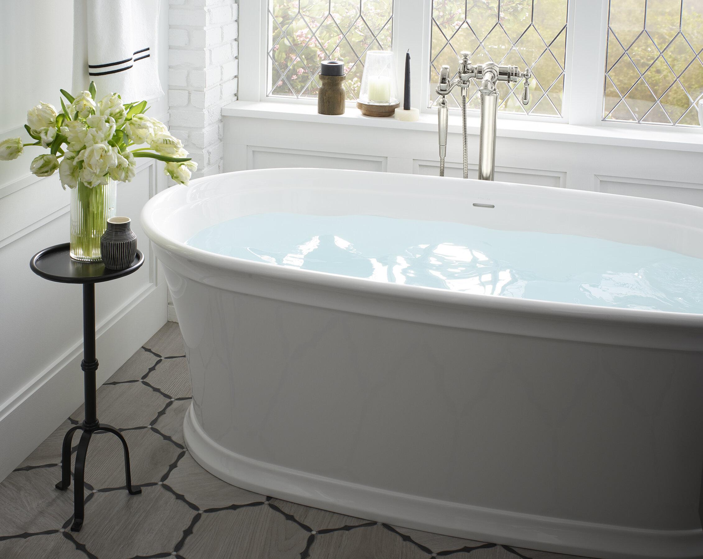 Picture of: Kohler Memoirs 66 X 36 Freestanding Soaking Bathtub Wayfair