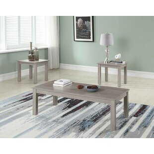 Mauzy 3 Piece Coffee Table Set by Gracie Oaks