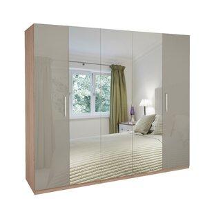 Dufferin Mirrored 5 Door Wardrobe By 17 Stories
