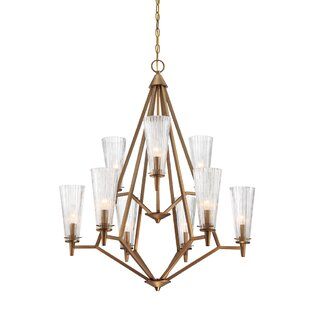 Designers Fountain Montelena 9-Light Shaded Chandelier