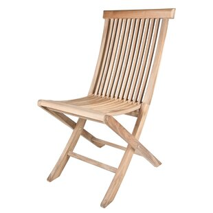 Solid Teak Classic Folding Patio Dining Chair (Set Of 2) by Arbora Teak Cheap